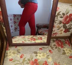 Tally Weijl crvene farmerke sa elastinom
