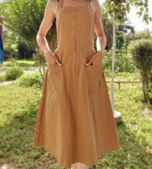pamucna haljina - karamel