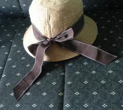 Slamnati šešir sa braon trakom
