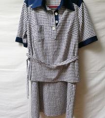 Vintage komplet suknja+bluza vel.42 SNIZENO