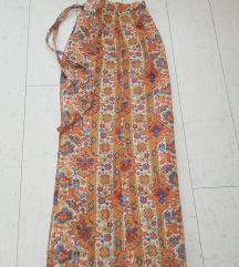Maxi suknja na preklop