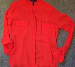 MAX AZRIA crvena providna košulja - NOVO