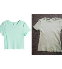 H&M mint crop top