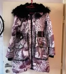 Zimska perjana jakna sa prirodnim krznom