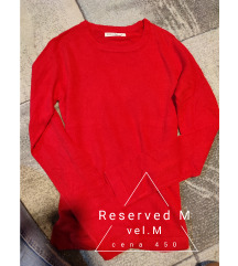 Reserved dzemper bluzica crvena M