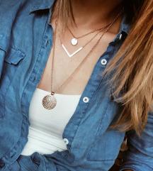 Rose gold unikatna ogrlica