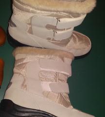 Bele čizme, naložene, ravne, broj 39