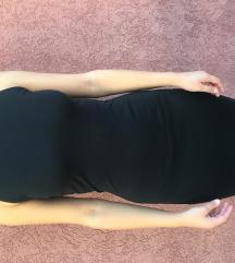 Zara crna haljina sa rolkom