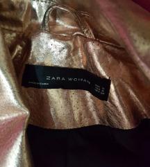Zara kozna zlatna jakna nova