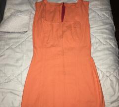 Narandzasta kratka haljina s/m