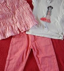 Pantalone, kosulja, majica vel 7-8