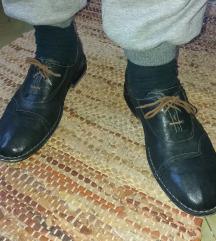 CARLO PAZOLINI kožne crne cipele meke kao rukavice