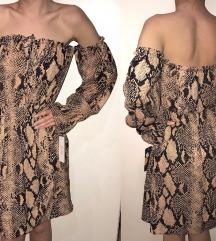Lepsava haljina snake printa NOVA sa et.