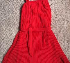 ZARA plisirana haljina S