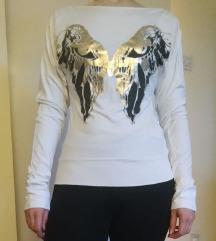 Majica na duge rukave sa printom leptira, S/M NOVO