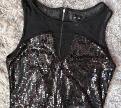 rezz *SALE* AMISU crna šljokičava haljina