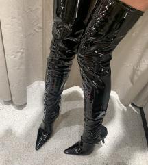 Lakovane duboke čizme