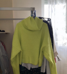 Neon žuti vuneni džemper