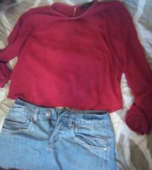 ZARA bluza + teksas suknja GRATIS