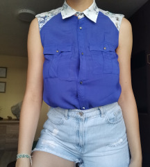 Kraljevsko plava letnja košulja