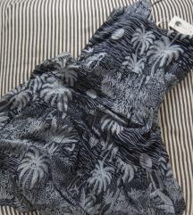 rezz  HM plava haljina sa printom palmi