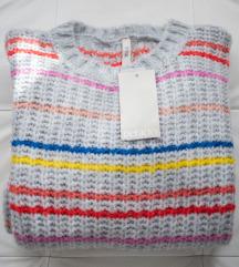 Defacto sivi džemper na pruge