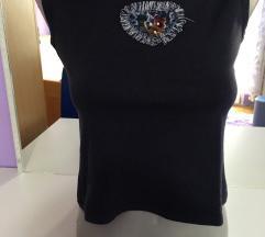 Teget crop-top majica bez rukava