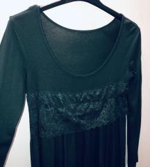 Maslinasto zelena haljina sa kaišem AKCIJA