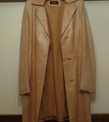 Krem kožni mantil, prelep, 38