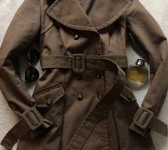PINKO ORIGINAL drap braon mantil kaput S KAO NOV