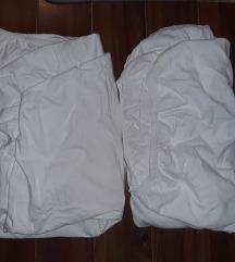 2 bele navlake sa gumom za dusek za krevetac
