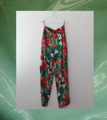 Vintage cvetne letnje pantalone