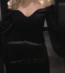 Crna haljina sa resama