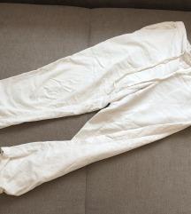 Mango bele somot pantalone