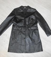 Predivna italijanska kožna jakna/mantil, kao NOVA
