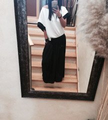 Pepe Jeans suknja, kimono bluza Zara