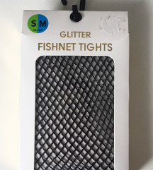 GLITTER FISHNET TIGHTS, NOVO