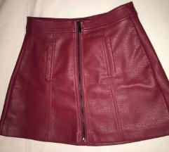 Bershka kozna suknjica