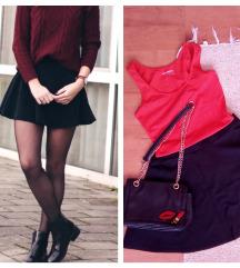 NOVA! Crna A suknja