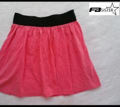 FB sister roze mini suknja