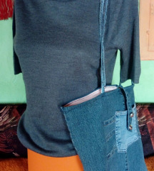 Sivi džemper kratkih rukava