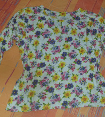 Vintage floral crop majica