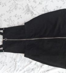 HiM crna haljinica na tregere