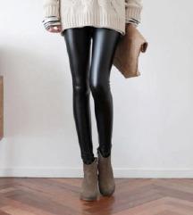 💣 Trendy crne kožne helanke M/L 💣 NOVO