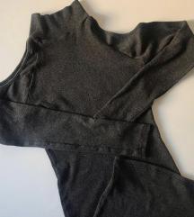 Pamučna haljina bez ramena