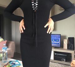 Crna haljina jesen/zima vel:38/40