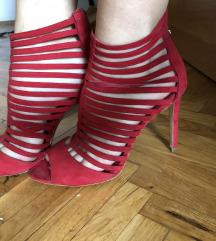 Crvene Zara sandale sa kaisicima