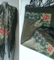 marama svilena kao ciganska 99x92 cm