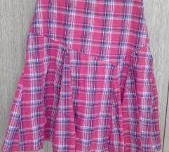 Plisirana karirana suknja+poklon majica