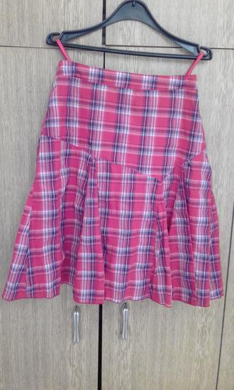 Plisirana karirana suknja+poklon majica Sada 800